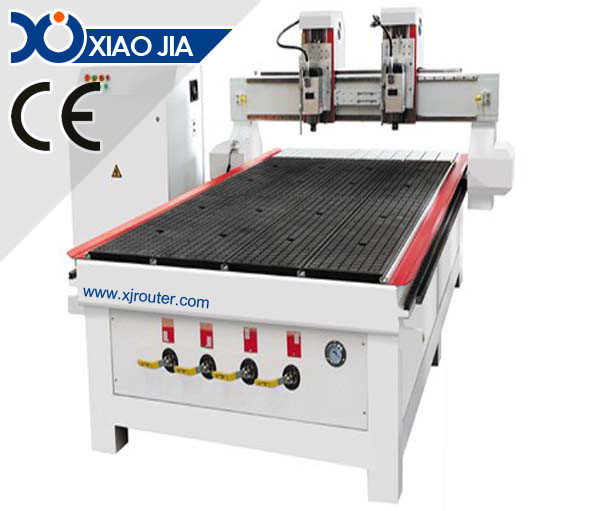 Woodworking CNC Router with two spindles XJ1325HD